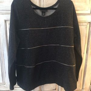 Lane Bryant sweater with zipper accent